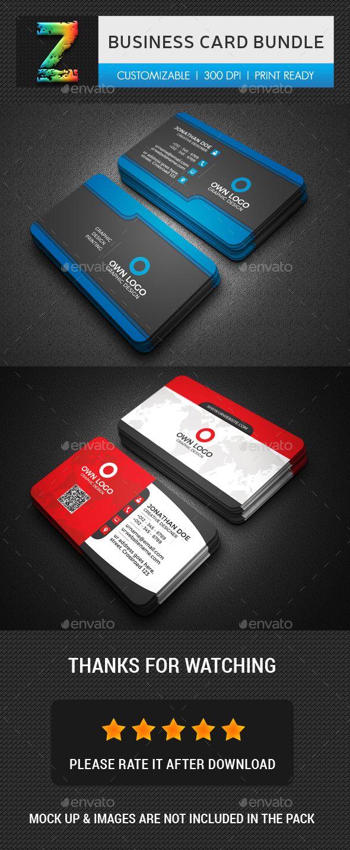 Business Card Template Psd Bundle Business Card Templates
