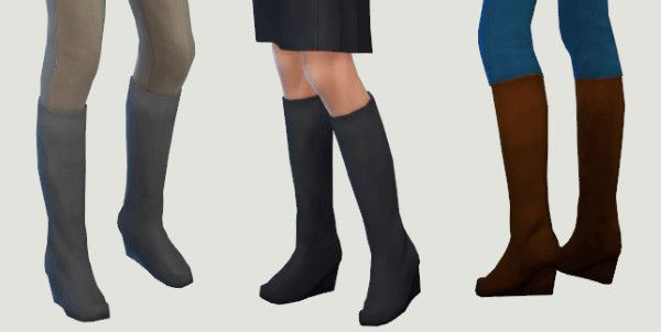 Wedge Boots at Lexicon Luthor via Sims 4 Updates