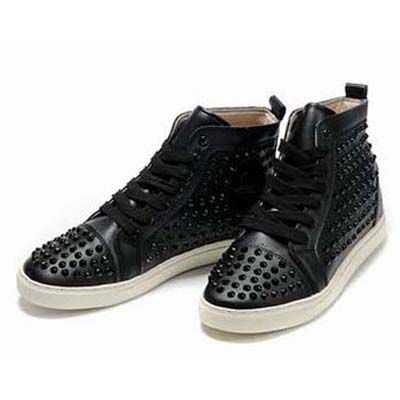 b310272a523 Mens Christian Louboutin Sneakers Louis High Top Studded Black