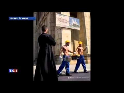 "MY TF1 NEWS - LCI -""The sexy calendar from Orthodox priests"" - In the Media  https://www.orthodox-calendar.com/shop  https://facebook.com/CalendarOrtodoxAVA"