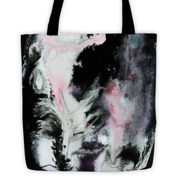 """15""""x15"""" abstract tote"""