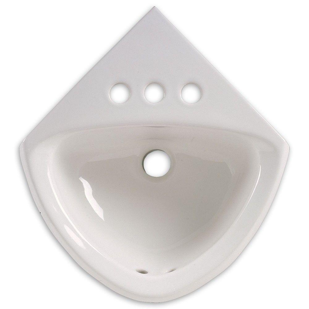 American Standard Minette Corner Basin Sink Single Faucet Drilling Porcelain Bathroom Sink Antique Mirror Wall Mirror Wall Bedroom