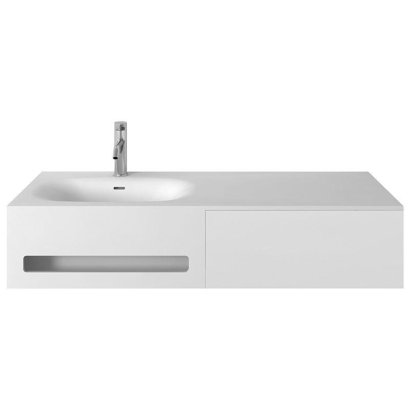 Pierce 47 Single Wall Mounted Bathroom Vanity Set Allmodern Bathroom Vanities Without Tops Modern Bathroom Vanity Single Sink Bathroom Vanity