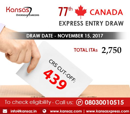 Canada express entry latest draw 2018 rounds of invitations the cut off score was set to 439 points and the applicants were issued with an invitation to stopboris Images