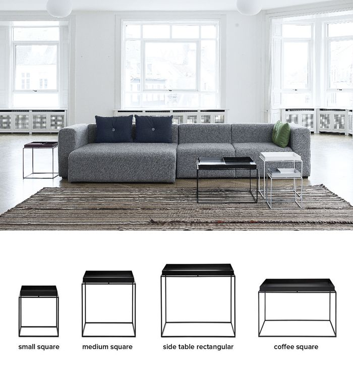 Tray Table By Hay Denmark Collection Of Tables With Removable Tray In 4 Sizes Wohnung Neue Wohnung Wohnen