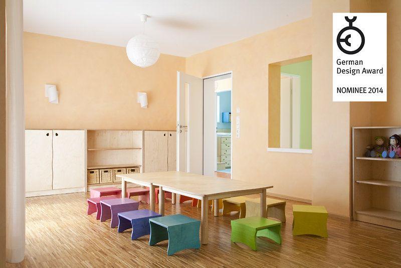 im gruppenraum halten sich die kinder l nger auf als in. Black Bedroom Furniture Sets. Home Design Ideas
