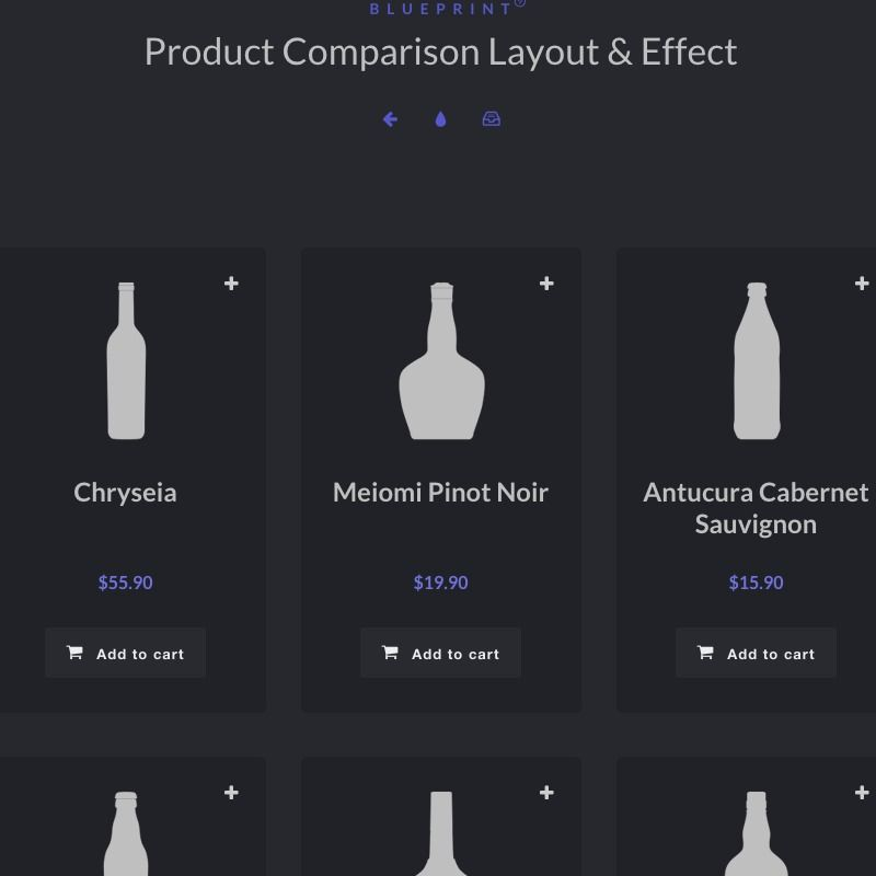 Blueprint product comparison layout effect code inspiration blueprint a basic responsive product grid layout with comparison functionality malvernweather Images