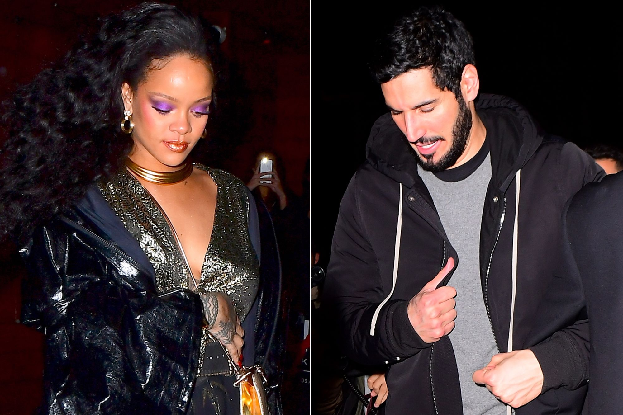 Rihanna Hits Grammys Afterparty with Rumored Boyfriend