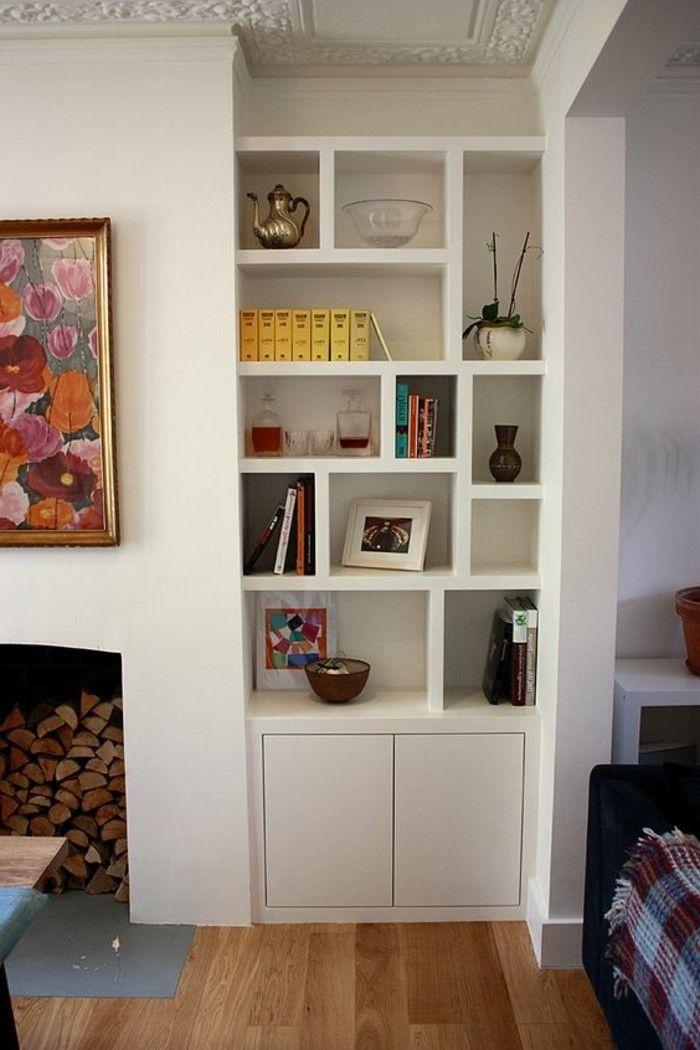 1001 id es comment d corer vos int rieurs avec une niche murale salon s jour. Black Bedroom Furniture Sets. Home Design Ideas