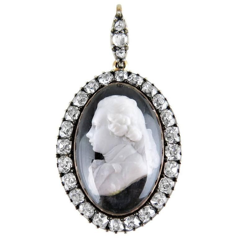 Late 18th century george iv as prince of wales diamond cameo pendant late 18th century george iv as prince of wales diamond cameo pendant aloadofball Choice Image