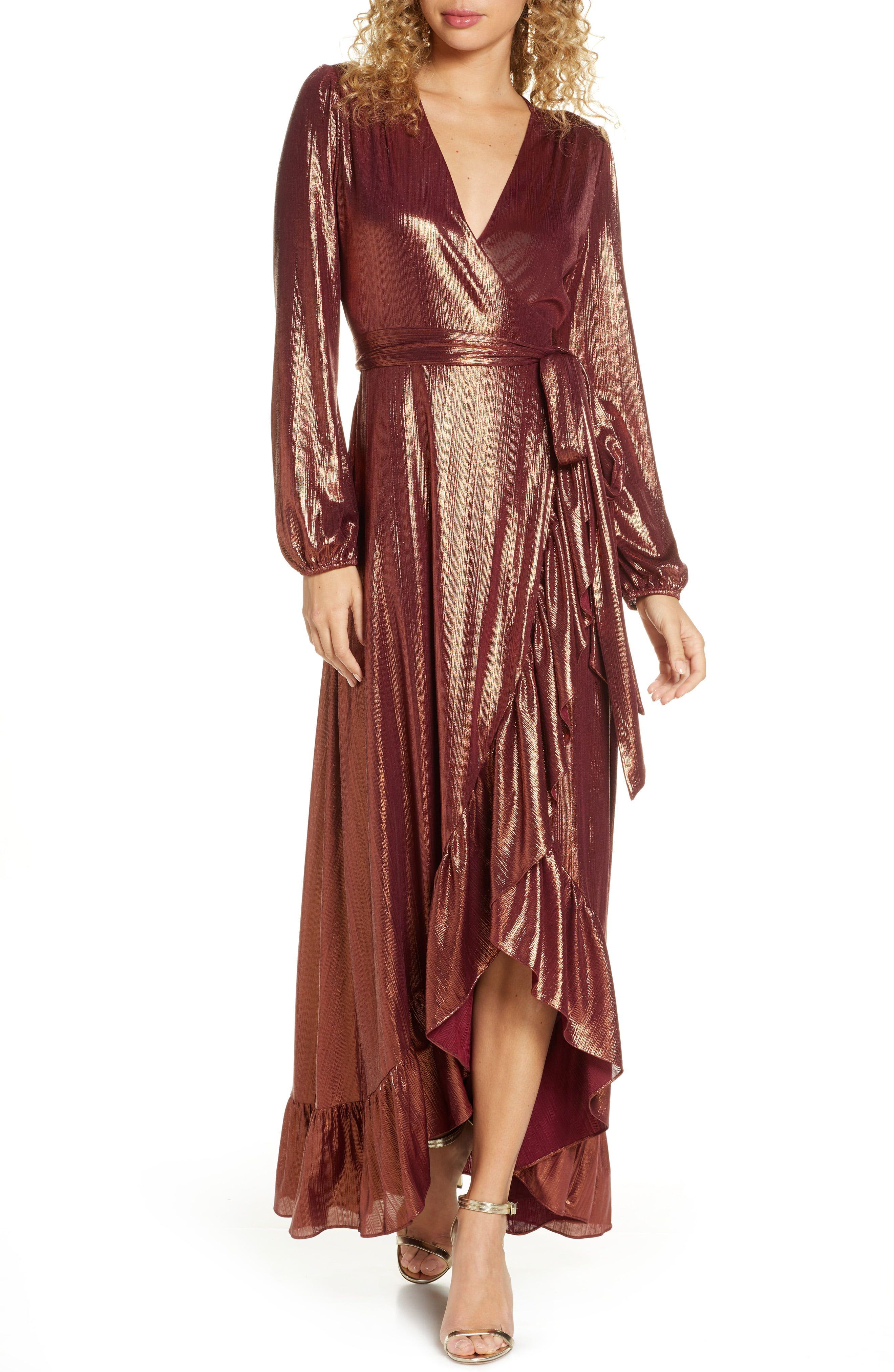 Wayf Meryl Long Sleeve Wrap High Low Gown Nordstrom High Low Gown Maxi Wrap Dress Maxi Dress Online [ 4048 x 2640 Pixel ]
