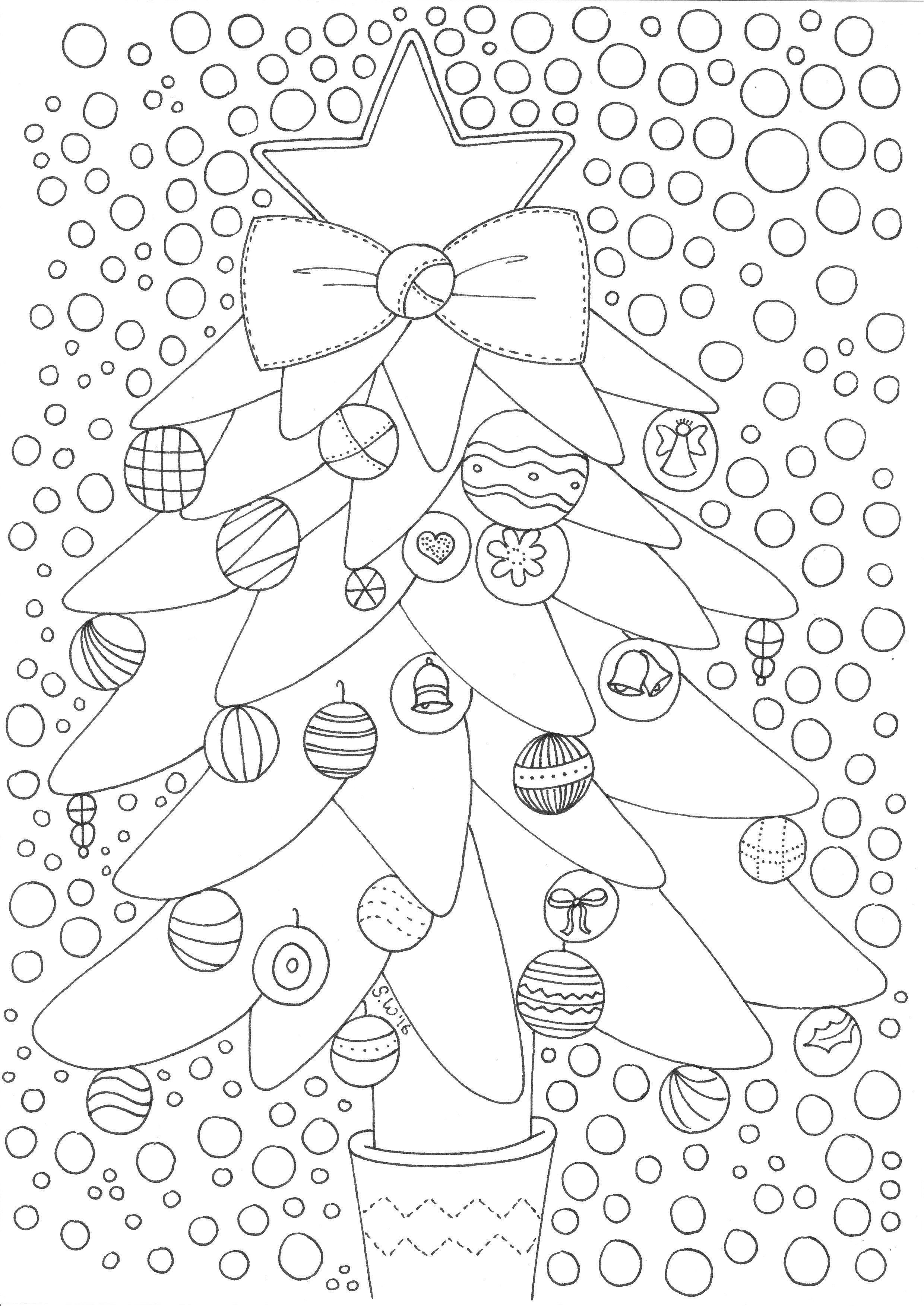 Kerst Kerstboom Kerstmis Kleurplaten Kleurplaten Voor Volwassenen Kleurplaten