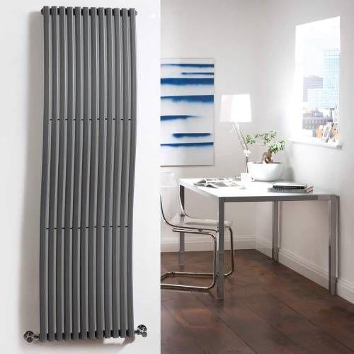 hudson reed design heizk rper vertikal anthrazit 1120 watt 1600mm x 460mm palero design. Black Bedroom Furniture Sets. Home Design Ideas