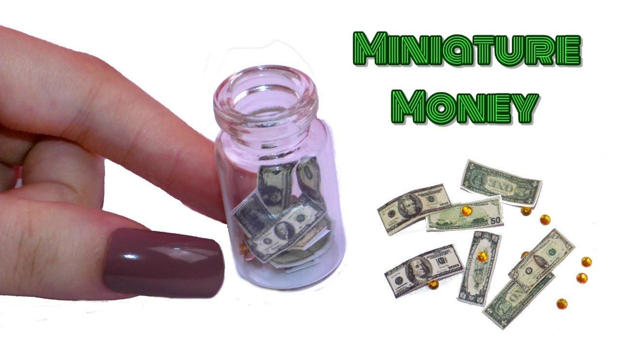 tutorial: miniature money (link to printable) | tutorials