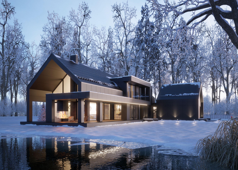 Photo of MODERN BLACK WINTER HOUSE (vis. for lk-projekt.pl)