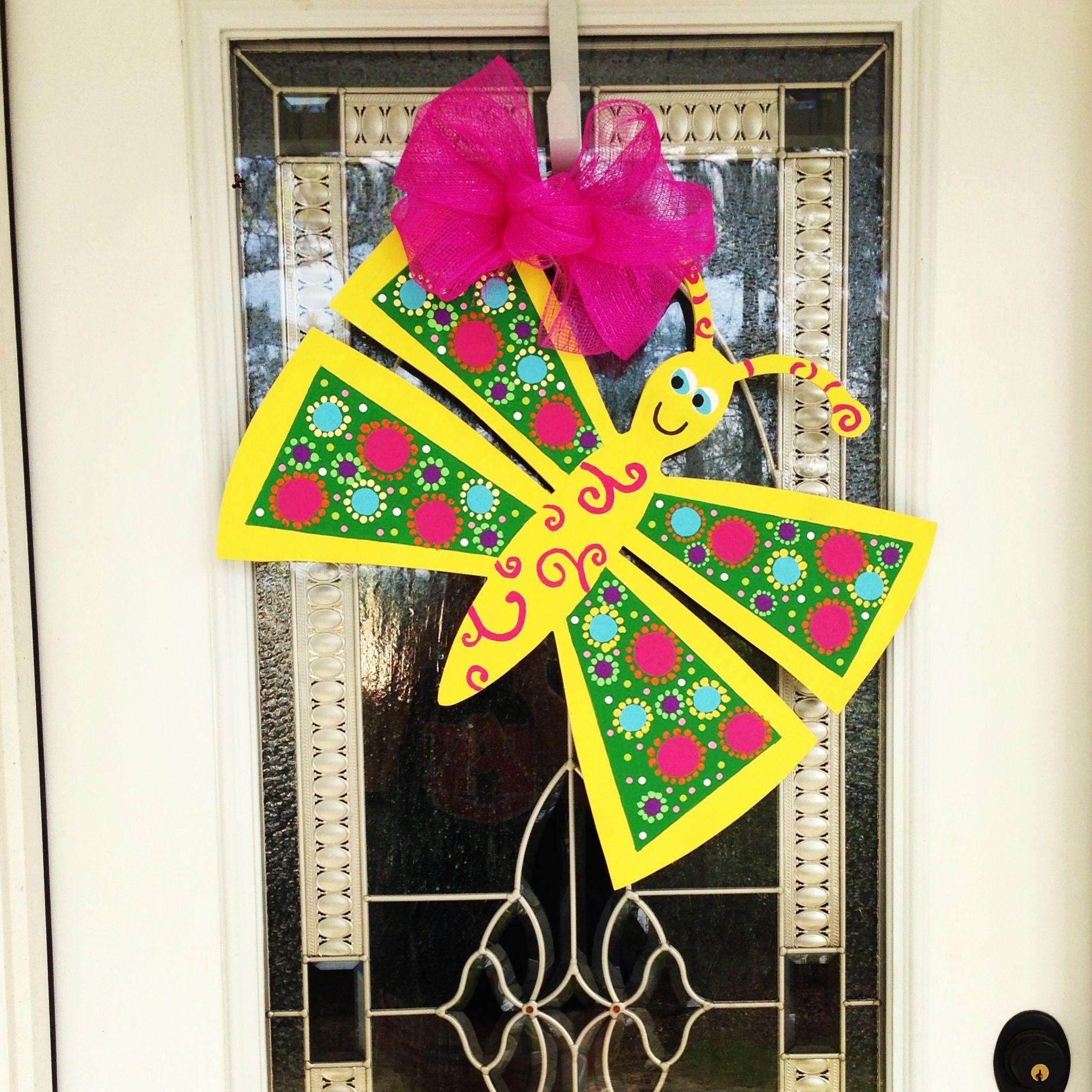Spring Butterfly Door Hanger | My Life | Pinterest