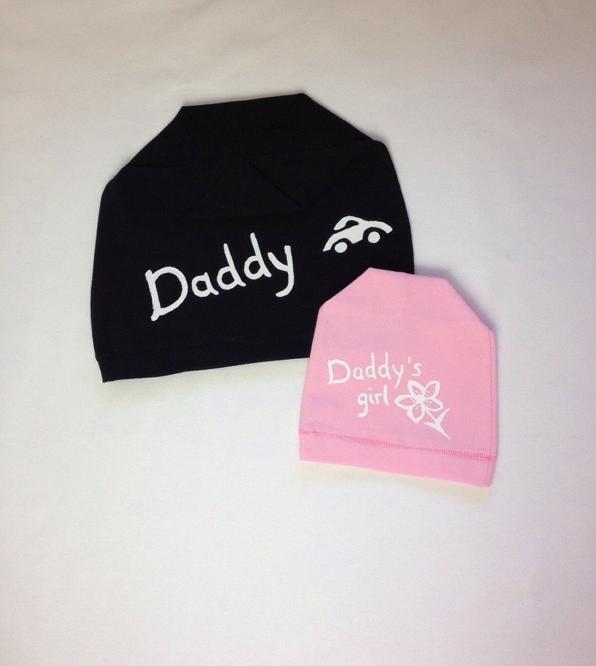 8c7ab2201ae Father and daughter gift. Daddy and baby girl matching beanie hats.  Handmade knit jersey hats. Hand painted beanie hats. Baby beanie hat. Men  accessories.