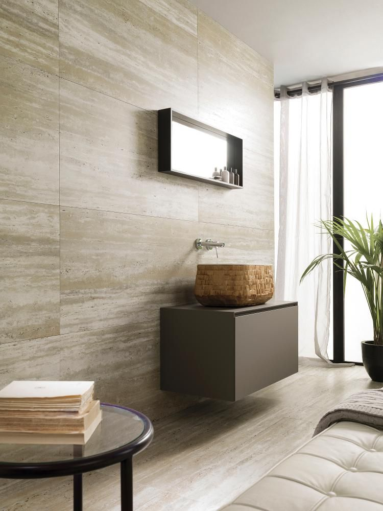 Travertine look tiles PORCELANOSA Grupo - Ceramic Tiles - Coliseum ...