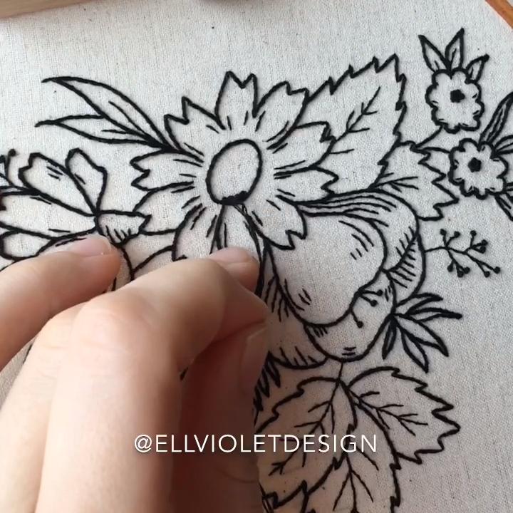 Wildflower Embroidery Pattern #embroiderypatternsbeginner