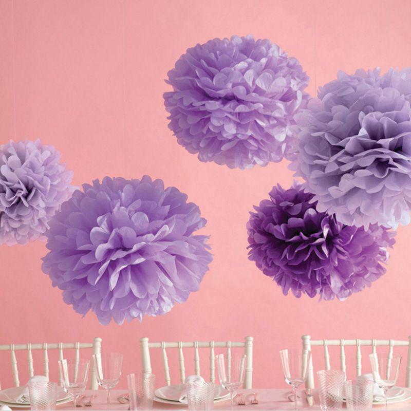 Paper Ball Decorations 45Cm Pom Pom Tissue Paper Pom Poms Flower Balls Party Wedding Home