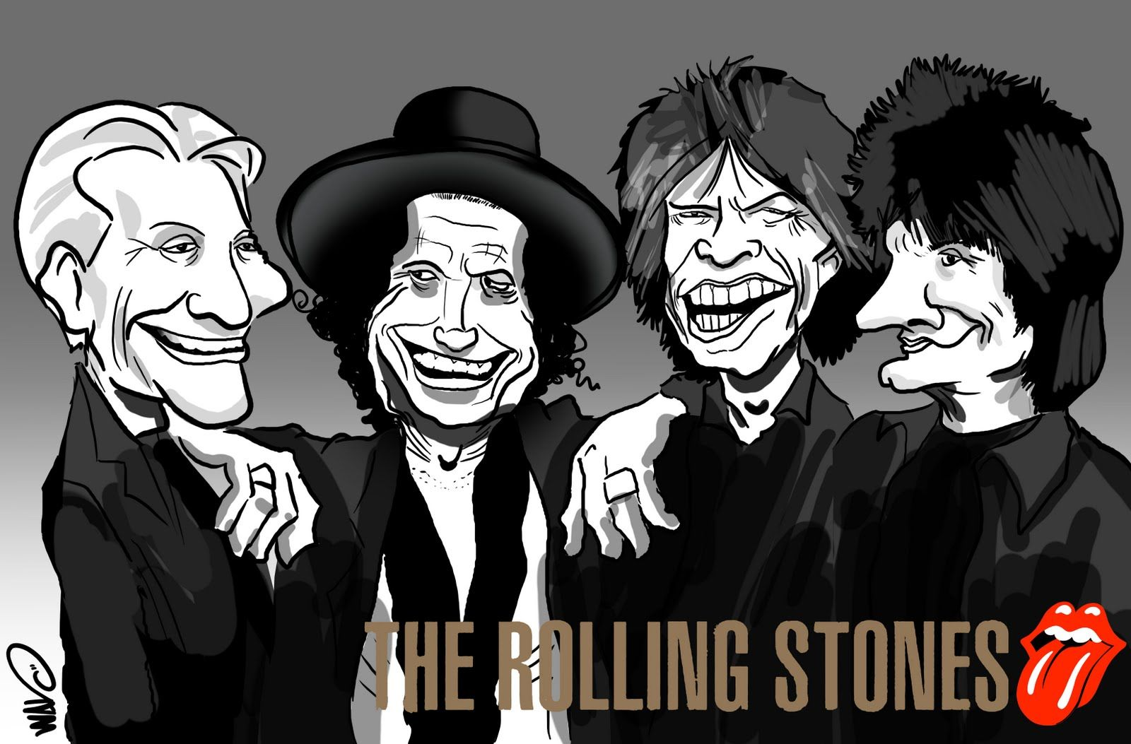 coverissimo rolling stones caricature wallpaper hd the