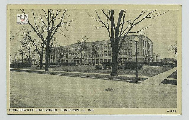 Connersville High School Connersville Indiana Fayette County Old Photos