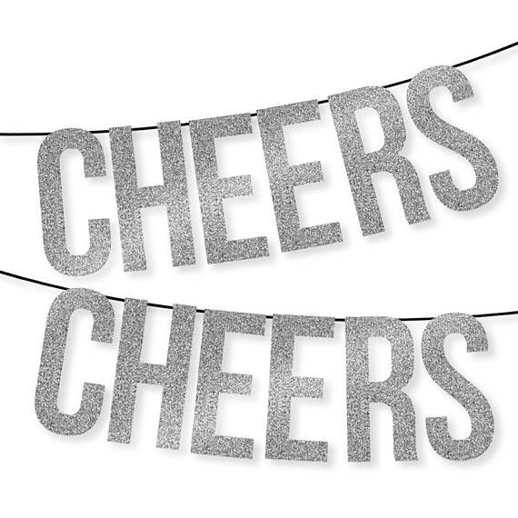 Silver Glitter Banner Instant Download Printables Includes