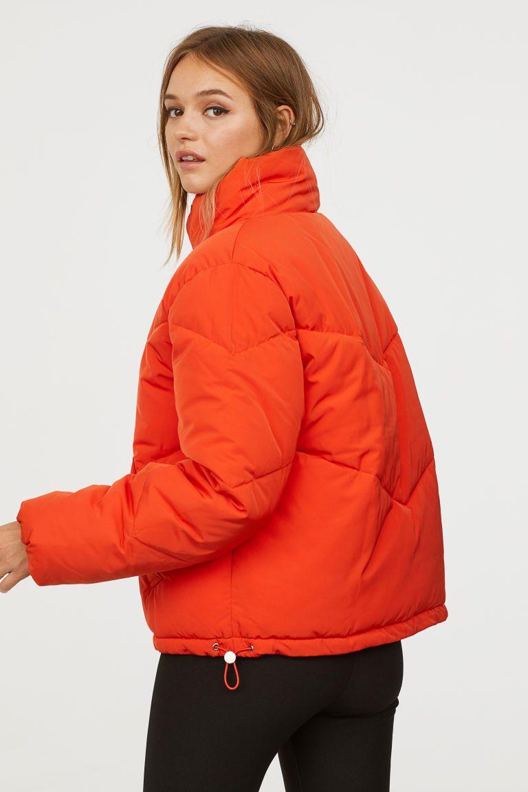 Padded Jacket Orange Ladies H M Us Padded Jacket Jackets Orange Puffer Jacket [ 1152 x 768 Pixel ]