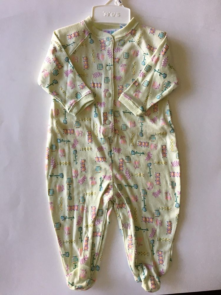 Details about  /Miniwear Babies R Us Light Green One Piece Snaps Footed Footie 3-6 Months *NWT*