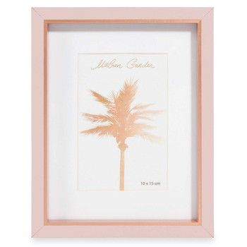 Sanja Pink And Copper Coloured Faux Wood Photo Frame