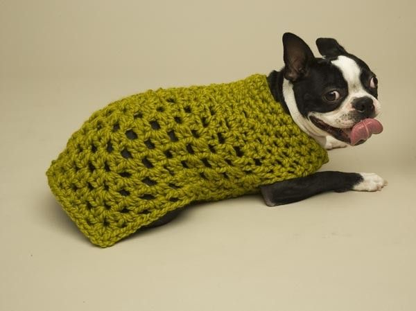Granny Square Dog Sweater Pattern (Crochet) | puppy accessories by ...