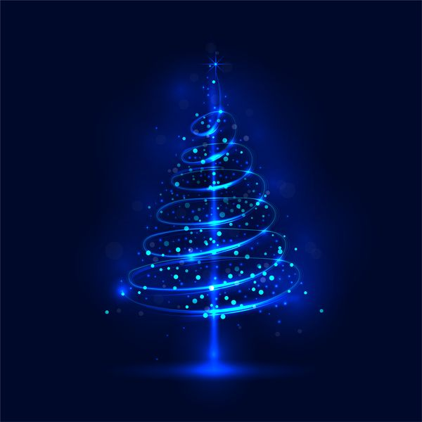 shiny blue christmas tree with blue background vector 03 blue christmas tree blue christmas christmas animated gif shiny blue christmas tree with blue