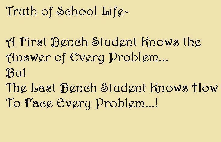 Truth Of School Life Quote Funny Quotes School Humor School Quotes