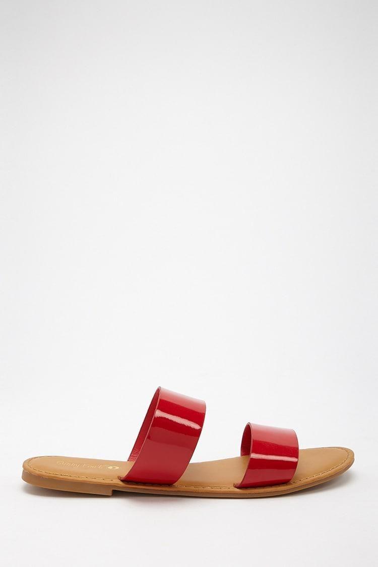 Forever 21 Faux Patent Leather Slide Sandals obtenir Livraison Gratuite Excellente 2018 Nouvelle Lieux De Sortie Livraison Gratuite offre kUQmxSGZdV