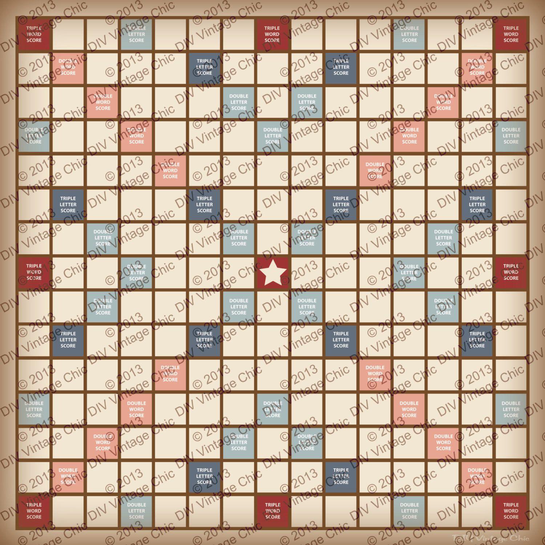 Scrabble Board Printable Jpg File By Beccacreative On Etsy Https