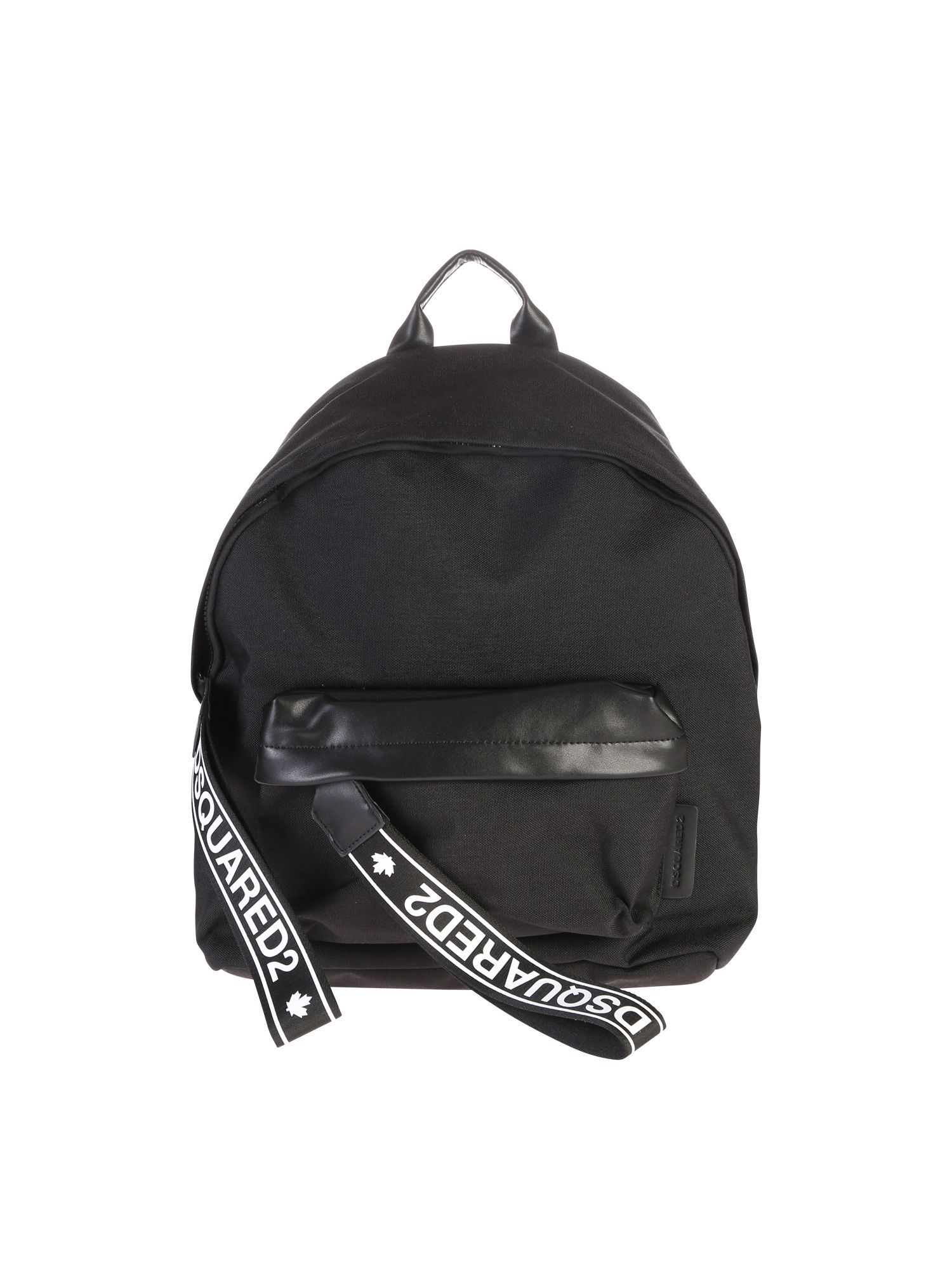 07361025df1e DSQUARED2 BLACK BRANDED BACKPACK.  dsquared2  bags  leather  polyester   nylon  backpacks