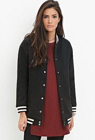 07879fa2ab4 Longline Varsity Jacket