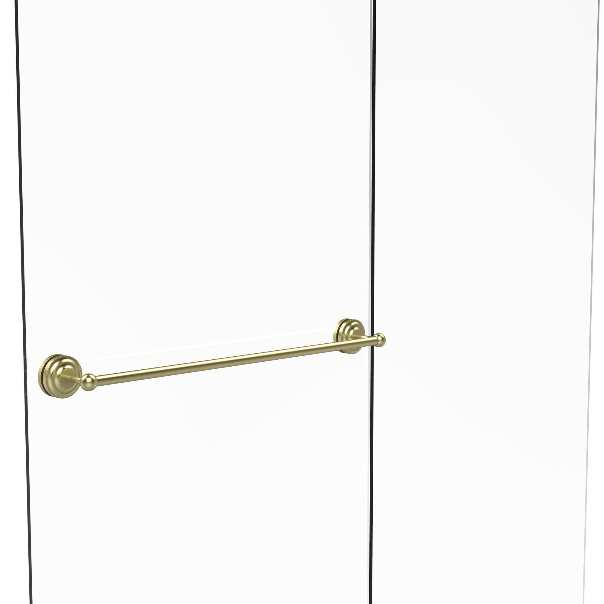 Que New 33 Wall Mounted Towel Bar Shower Doors Towel Bar Glass Shower