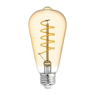 Vintage Aline St19 Shape Spiral Amber Led Light Bulb White