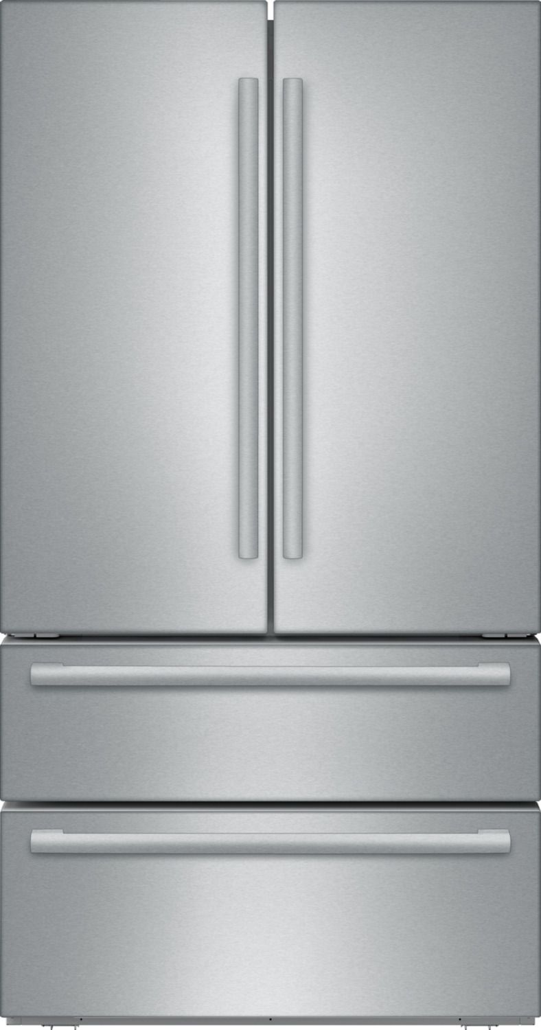 3 399 This Bosch Counter Depth French Door Refrigerator Is Finished In Counter Depth French Door Refrigerator French Door Refrigerator Glass Shelves Kitchen