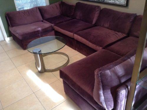 Mid Century Milo Baughman sectional Sofa : plum sectional sofa - Sectionals, Sofas & Couches