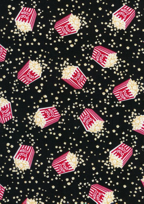 Timeless Treasures Fun Food Movie Popcorn By Seamssewfunfabrics