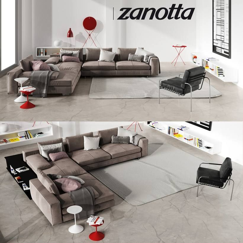 3d Model Sofa Zanotta 118 Free Download Sofa Set Sofa Furniture Sofa