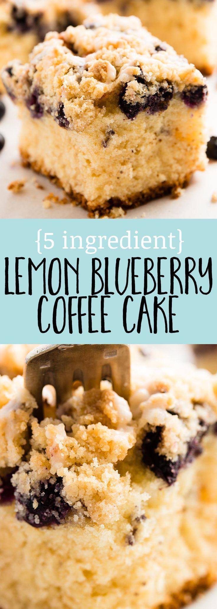 Lemon blueberry sour cream coffee cake the best recipe to