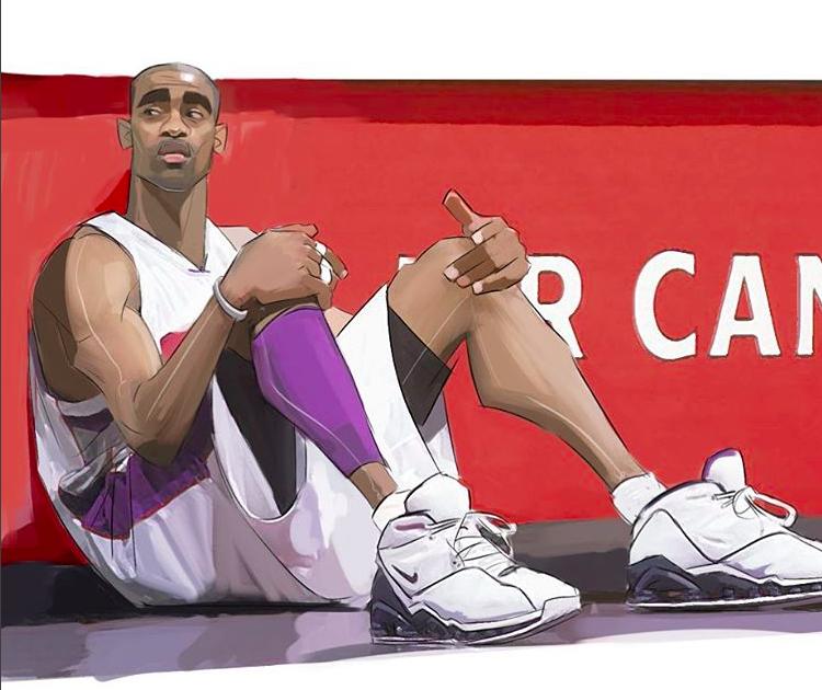 Vince Carter Aka Air Canada Illustration Nba Art Basketball Art Nba Basketball Art
