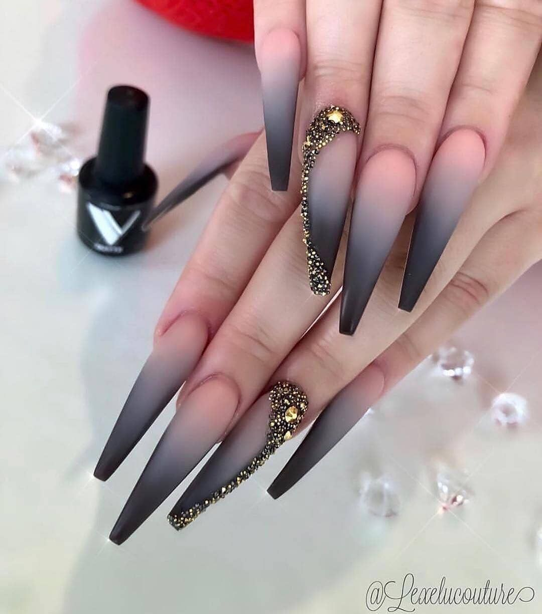 Best Stylish Nails In World On Instagram Follow Us Beauty Nails Inspo Follow Us Stylishnaails Stiletto Nails Designs Black Ombre Nails Casual Nails