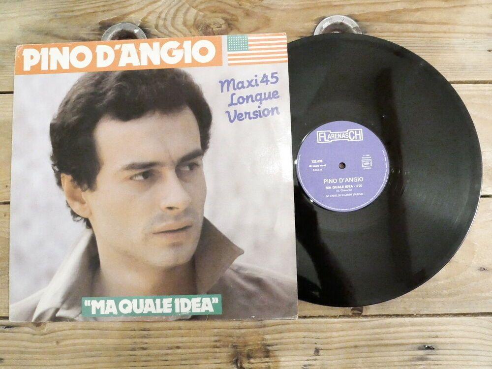 Pino D Angio Ma Quale Idea No Lp Maxi 45t Vinyle Ex Cover Ex Original 1980 Vinyle Vintage Cover