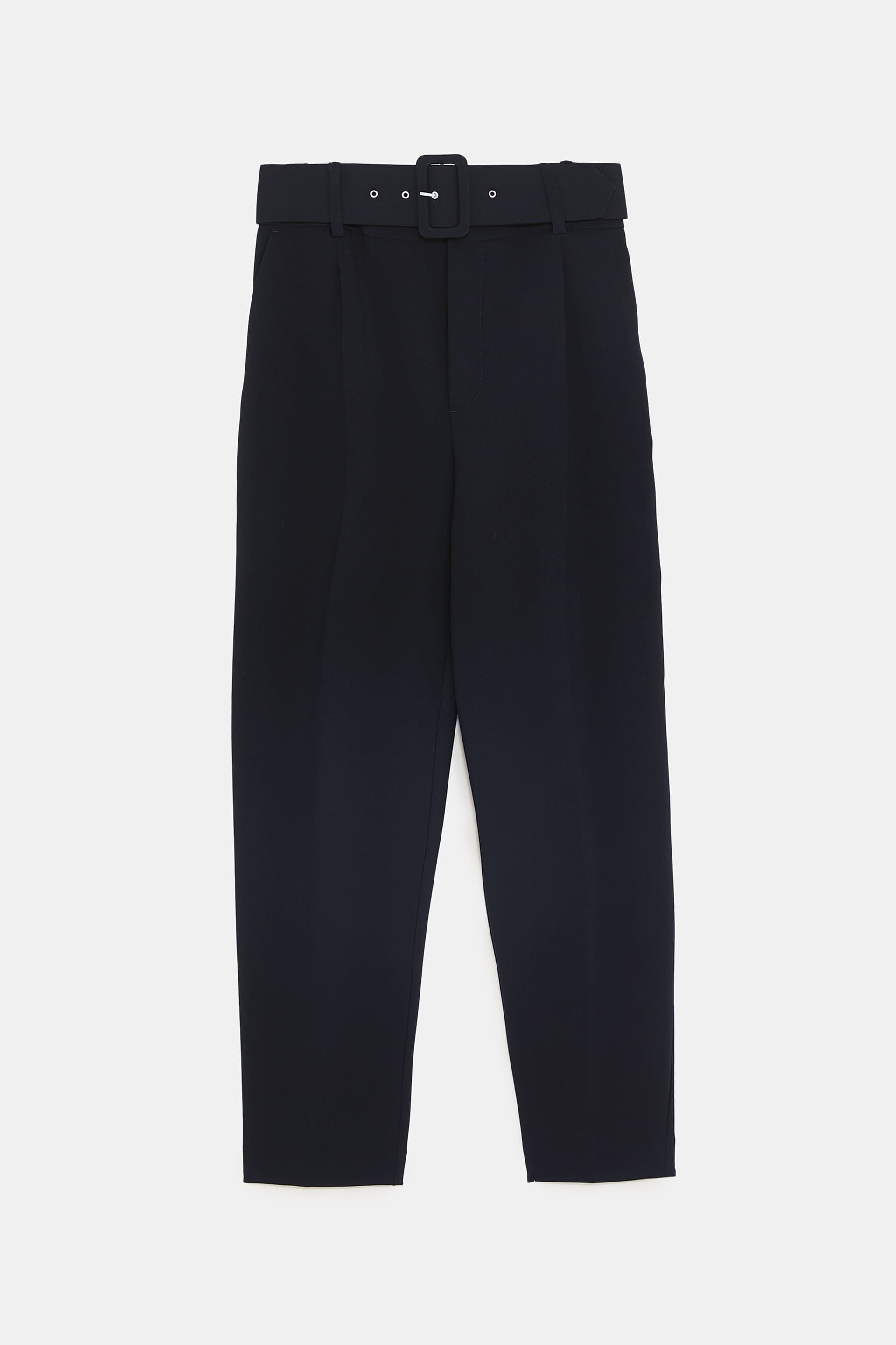 bb201804 High-waisted belted pants | Wardrobe Whishlist | Pleated pants ...