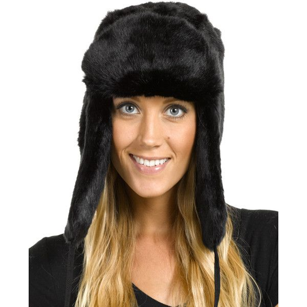 05b8bfaf3ed FRR The Sochi Faux Fur Ladies Russian Hat in Black ($40) ❤ liked on  Polyvore featuring accessories, hats, black, faux fur hat, black faux fur  hat, ...