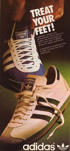 Virus en frente de Actriz  1975 Adidas Sneakers Ad | Adidas retro, Adidas, Vintage adidas
